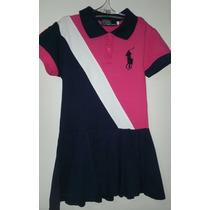 Vestido Infantil Gola Polo