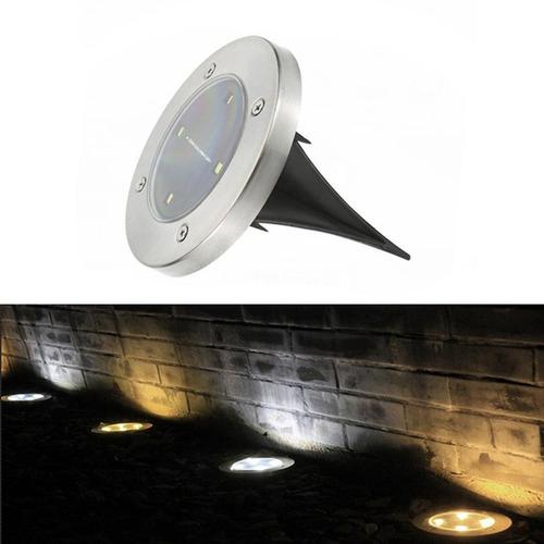 4led Solar Poder Enterrado Luz Sob Solo Lamp Caminho Maneira