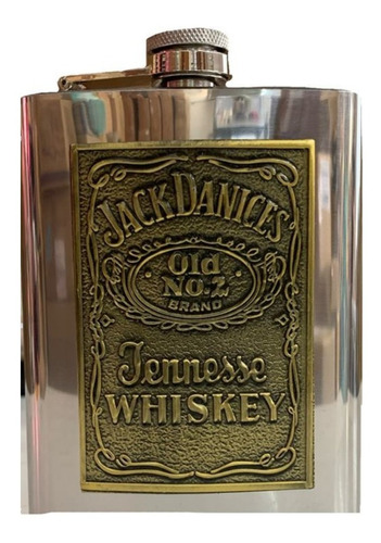 Cantil Porta Bebidas Bolso Jack Daniels Prateado 270 Ml