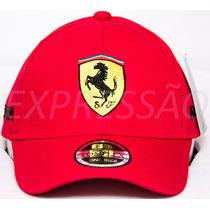 Boné Infanto-juvenil Ferrari Bordado Crianças 4 - 12 Anos
