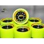 Rodas Para Patins Tradicional Rodas Radicais Amarelo Neon
