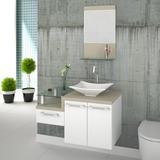 Gabinete Armário P/banheiro C/cuba L38+espelheira Legno 831#