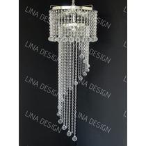 Lustre Para Escada/hall/cristal Acrilico 30x1,25cm Bivolt