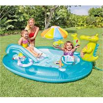 Piscina Inflável Playground Escorregador Jacaré 57129- Intex