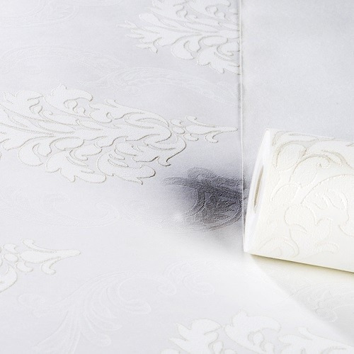 Papel de parede arabesco vin lico relevo textura 3d neutro for Precio de papel vinilico
