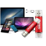 Pen Drive 32gb Otg Duas Entradas Usb E Micro Usb P/ Celular