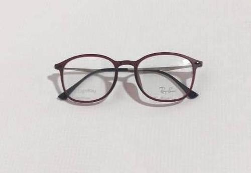 Rayban Armação Óculos Redondo Vermelho Fosco df6c8c5117