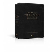 Kit 2 Bíblias Thompson Letra Grande Luxo Preta Editora Vida