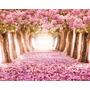 Painel Gigante Lona Fosca Paisagem Floresta Rosa 4,00x2,00mt