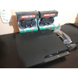 Ps3 Slim Playstation 3 Slim 120gb 2 Controles 1 Jogo Fifa 14
