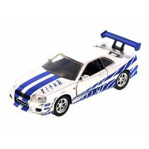 Minia Nissan Skyline Gt-r 2002 Velozes E Fur 1:32 Jada 97184