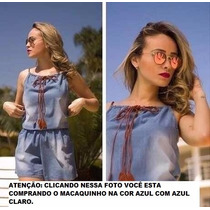 Macaquinho Jeans Feminino Otimo Tecido, Super Promoção,