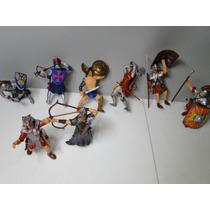 Desconto 08(oito) Soldados Romanos Gladiadores 10cm Altura