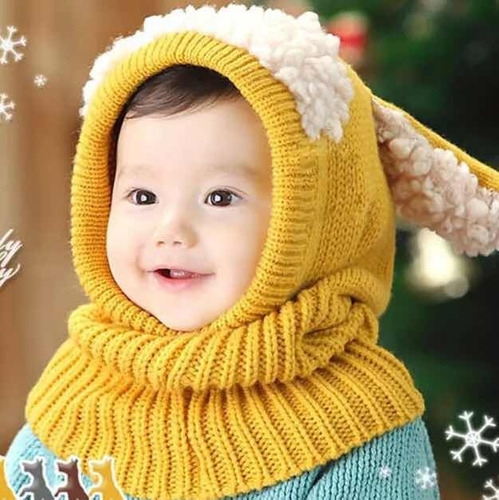Touca Gola Bebê Infantil Tipo Cachecol Quentinha Ovelhinha - R  58 ... dde4ba50e23