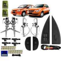 Kit Vidro Eletrico 4p Corsa Classic Inteligente + Trava 4p