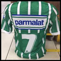 Camisa Palmeiras Listrada - Parmalat - 1993 - Retrô - Num. 7 à venda ... 214750e391cc6