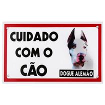 Placa De Advertência - Cuidado Com O Cão - Dogue Alemão
