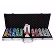 Maleta De Poker 500 Fichas Heliográficas Profissional