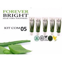 Kit Com 5 Pasta De Dente Forever Bright Tothgel Creme Dental