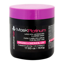 Máscara Matizadora Mask Platinum Blond E Black 500g Madame