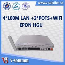 Fibra Onu Epon Wifi Hg326e 4*10/100m 4fe 2pots