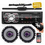 Par Alto Falante Pioneer 6 Triaxial 100w + Radio Bluetooth Original