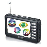 Mini Tv Portátil Digital C/ Tela 4,3 Antena Rádio Fm Mtv-43a