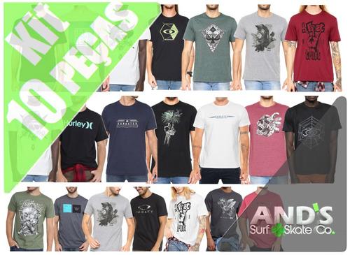 1fbb9472c37c9 ... Kit 10 Camisetas Oakley Mcd Lost Atacado Revenda - Ands - R 298 en .