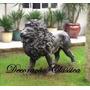 Par De Escultura Leão Em Bronze