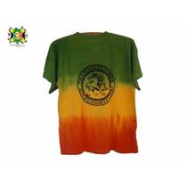 Camisa Camiseta Leão De Judah Cor Do Reggae Tie Dye