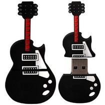 Pendrive Personalizado 4 Gb Guitarra Preta Musica
