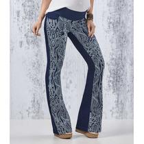Calça Jeans Flare Azul Gestante Mommybaby