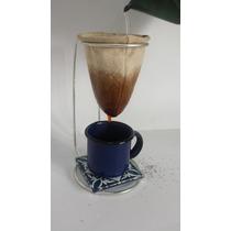 Mini Coador Pano Café Individual Mariquinha + Caneca 60 Ml