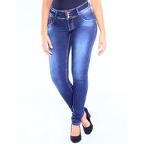 Calça Jeans Sawary Cintura Média Levanta Bumbum Cós Largo