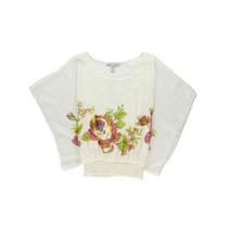 American Rag Mulheres Floral Tecido De Seda Dolmã Blusa