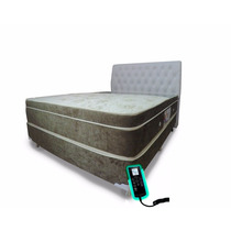 Colchão Magnético Massageador Bio Cromoterapia Queen + Box