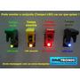 Chave Botão Caça Com Led Neon Botão Tic Tac 9 Cores Tuning
