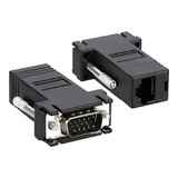Kit 6 Adaptador Extensor Vga Video Via Cabo Rede Rj45