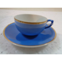 Xícara Café Azul Antiga