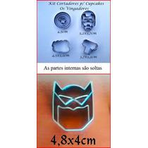 Cortador Os Vingadores 4 Peças + Batman Para Cupcake