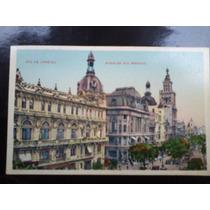 Cartão Postal Antigo Do Rio De Janeiro Av Rio Branco