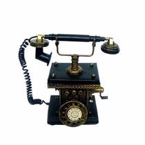 Telefone Antigo Vintage Metal Rustico Decoração Estilo Enfei