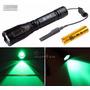 Lanterna Led Luz Verde Caça Pesca Tatica + Acionador Remoto