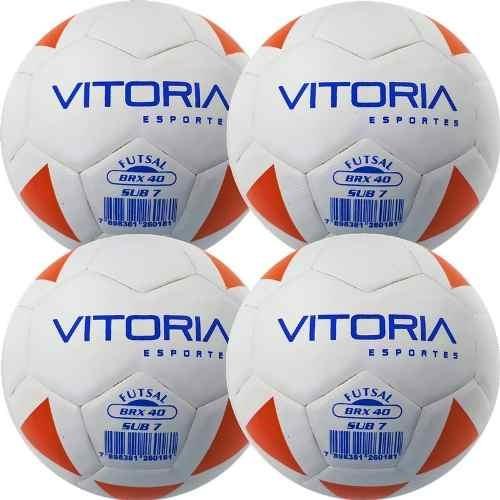 463aa6b46e740 Kit 4 Bola Futsal Vitoria Brx Max 40 Sub 7 (3 6 Anos) Baby