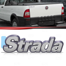 Emblema Tampa Traseira Fiat Strada 96 97 98 99 2000 Cromado