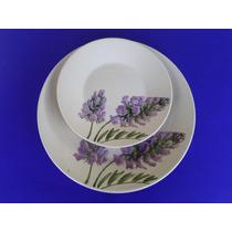 Pratos Florados - Jantar E Sobremesa Cerâmica Branca - Biona