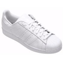 Tênis Adidas Star Superstar Foundation Branco Low All White.