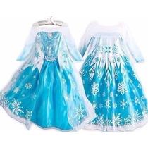Fantasia -vestido Elsa / Anna Disney Frozen Pronta Entrega