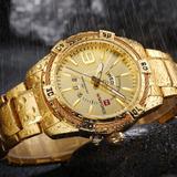 5d9ec8a4f59 Relógio Masculino Luxo Naviforce Original R agua Aço N9117