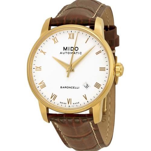 0b73d24006a Relógio Mido Baroncelli M86003268 Automatico 38mm Dourado